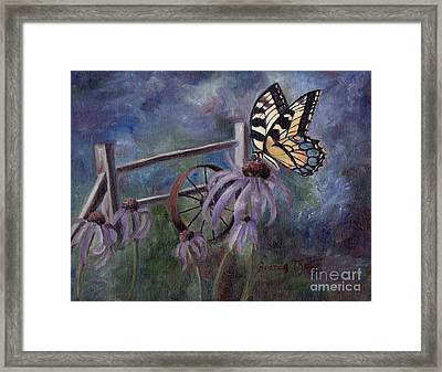 Framed Print featuring the painting In The Garden by Brenda Thour