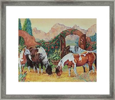 In The Garden Framed Print by Eden Alvernaz