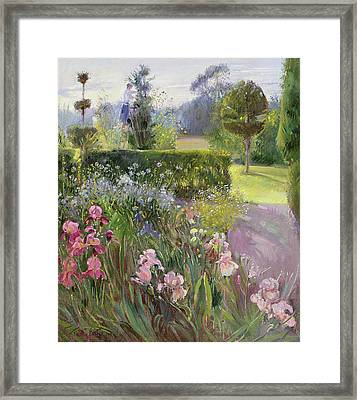 In The Garden   June Framed Print by Timothy Easton