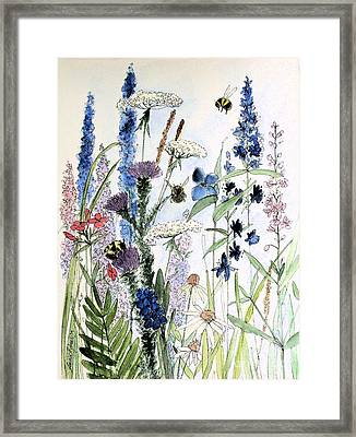 In The Garden Framed Print by Laurie Rohner