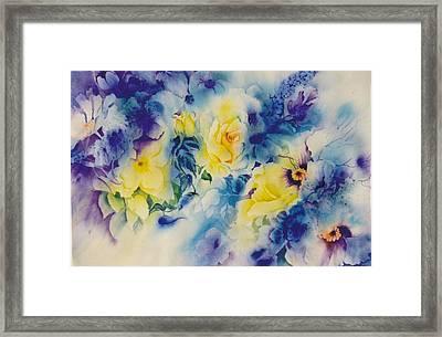 In-the-garden Framed Print by Nancy Newman