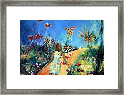 In The Garden Of Joy Framed Print