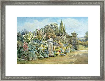In The Garden Framed Print by William Ashburner