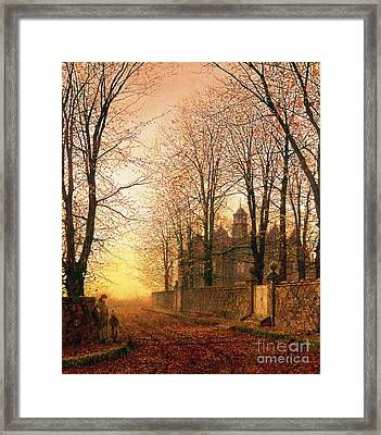In The Golden Olden Time Framed Print by John Atkinson Grimshaw