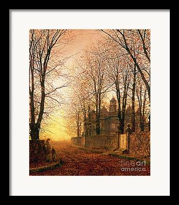 Bare Trees Paintings Framed Prints