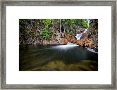 In The Gorge At Smalls Falls Framed Print
