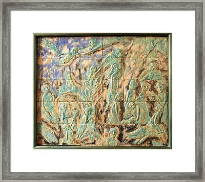 In The Green Mist Framed Print by Raimonda Jatkeviciute-Kasparaviciene