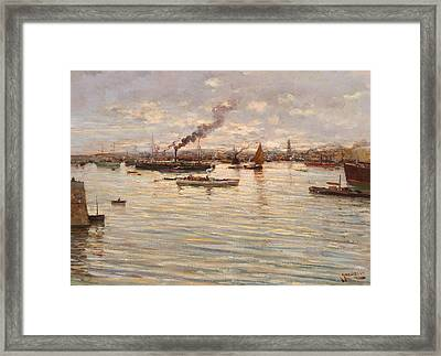 In The Gulf Of Naples Framed Print