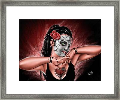 In The Hands Of Death Framed Print by Pete Tapang