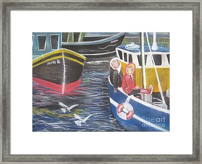 In The Harbour Framed Print