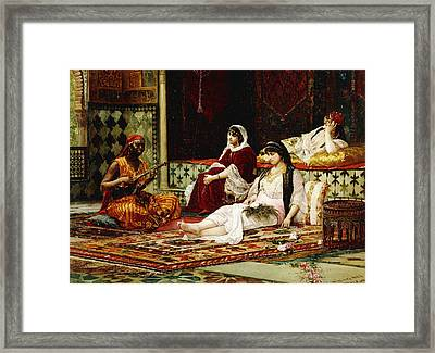 In The Harem Framed Print by Filippo Baratti