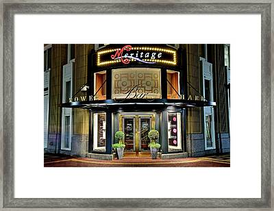 In The Heart Of Downtown Boston Framed Print by Frozen in Time Fine Art Photography