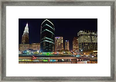 In The Heart Of Hartford Framed Print by Frozen in Time Fine Art Photography