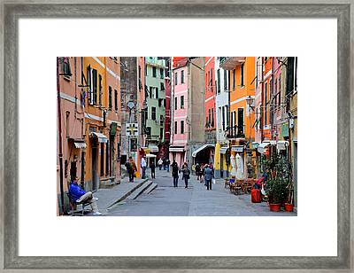 In The Heart Of Town Framed Print by Frozen in Time Fine Art Photography