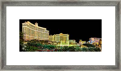 In The Heart Of Vegas Framed Print by Az Jackson