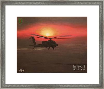 In The Heat Of Night Over Baghdad Framed Print by Leo Amoling