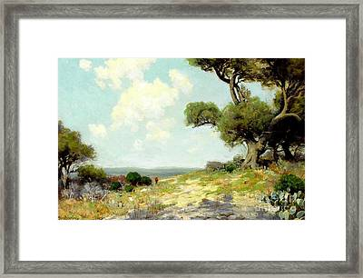 In The Hills Of Southwest Texas 1912 Framed Print