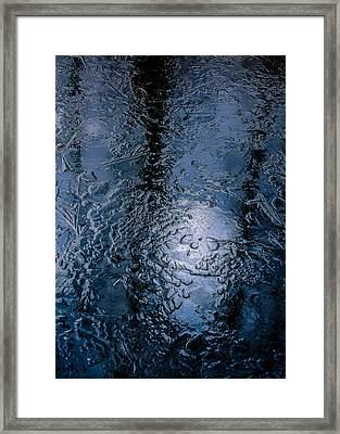 In The Ice Framed Print