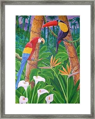 In The Jungle Framed Print by Jubamo