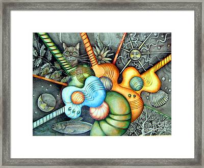 Framed Print featuring the drawing In The Key I See by Linda Shackelford