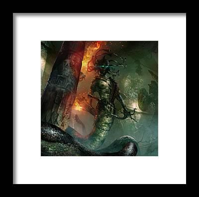 Gorgon Framed Prints