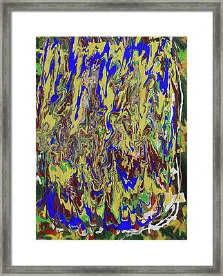 In The Land Of Blue And Gold Framed Print