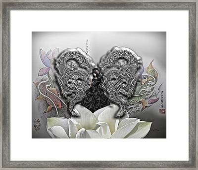 In The Land Of The Dragons Framed Print by Mo T