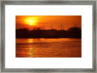 In The Land Of Windmills Framed Print