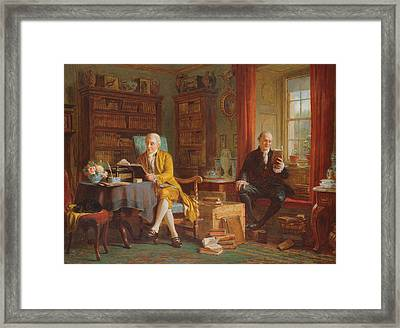 In The Library Framed Print