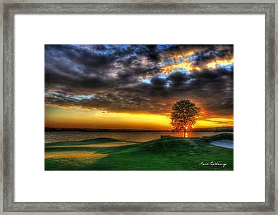 In The Limelight The Landing Reynolds Plantation Framed Print by Reid Callaway