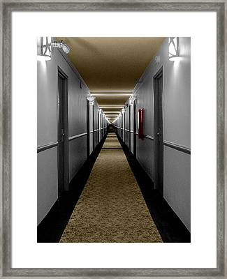 In The Long Hall Framed Print