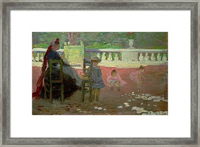 In The Luxembourg Gardens  Framed Print by Henri Edmond Cross