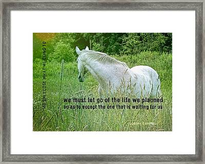 In The Meadow Quote Framed Print