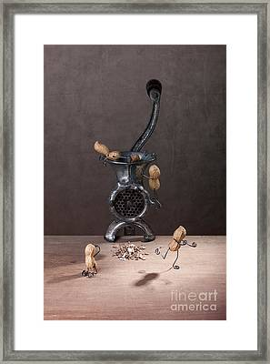 In The Meat Grinder 01 Framed Print by Nailia Schwarz