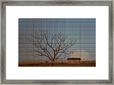 In The Middle Of Nowhere Framed Print by Andre Orms