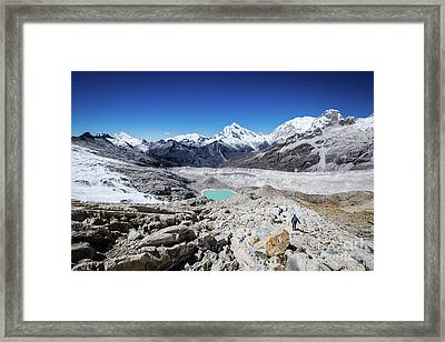 In The Middle Of The Cordillera Blanca Framed Print