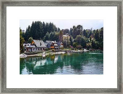 Rustic Museum In The Argentine Patagonia Framed Print
