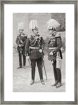 In The Middle, Wilhelm II Or William Framed Print