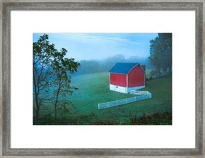 In The Midst Of The Mist Framed Print