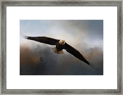 In The Midst Of The Storm Framed Print by Jai Johnson