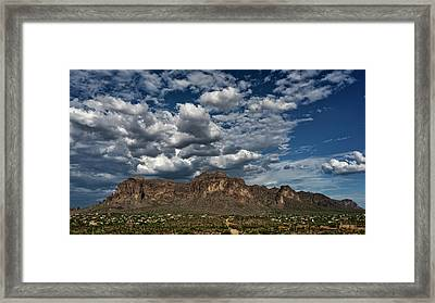 Framed Print featuring the photograph In The Midst Of The Superstitions  by Saija Lehtonen