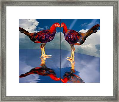 In The Mirror Framed Print by John Breen