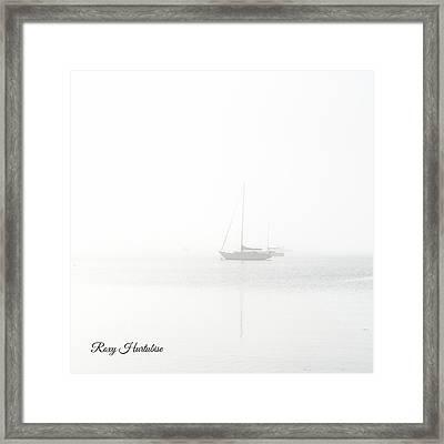 In The Mist Sailboat Framed Print