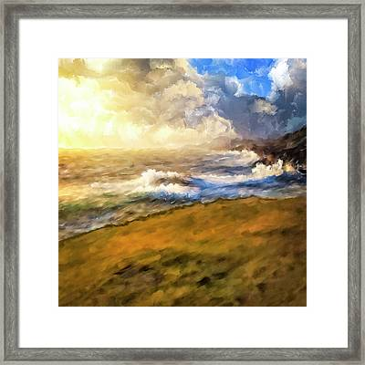 Framed Print featuring the mixed media In The Moment by Mark Tisdale