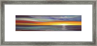 In The Moment Panoramic Sunset Framed Print by Gina De Gorna