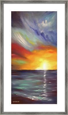 In The Moment - Vertical Sunset Framed Print