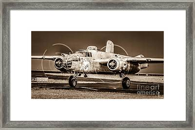 In The Mood - B-25 II Framed Print by Steven Reed