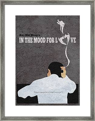 In The Mood For Love Minimalist Alternative Movie Poster Framed Print by Ayse Deniz