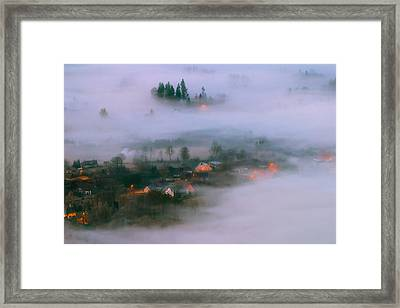 In The Morning Fog Framed Print