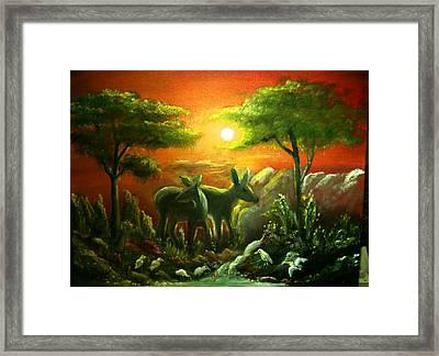 In The Morning Light Framed Print by M bhatt